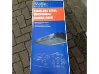 Cooker Hood - Brand new Moffat stainless steel
