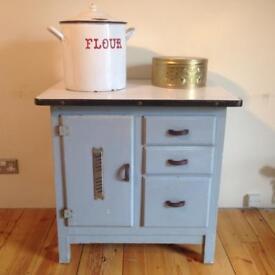 Retro 1950's/60's enamel top kitchenette