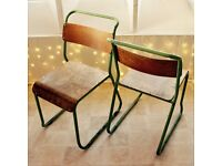 Chairs – x2 tubular steel, plywood 50's style