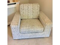 Very Large Arm Chair - Exceptional condition, feather filled cushions, washable. 9yo
