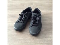 Black adidas trainers size 8
