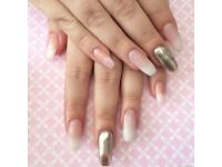 Gel polish manicure