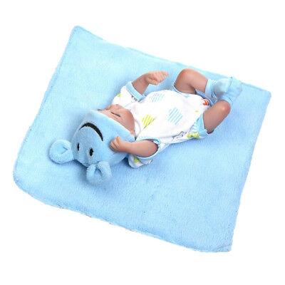 26cm Schöne Reborn Baby Boy Puppe Silikon Körper Kinder Kleinkind ()