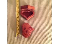 Two heart shaped trinket/jewelry boxes