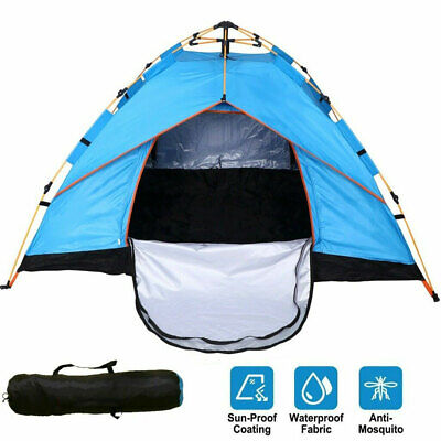 US 3-4 Person Automatic Pop-Up Outdoor Tent Camping Backpacking Tents Waterproof