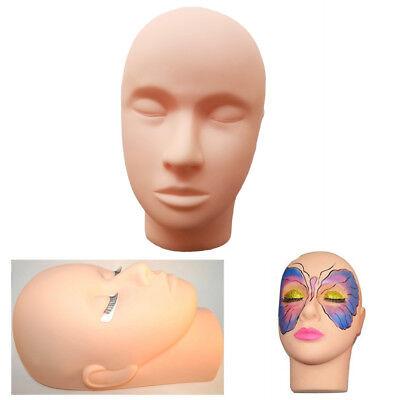 Makeup Mannequin Head For Eyelashes Practice Cosmetology Massage Training