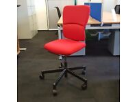 Reupholstered Steelcase Operators Chair Red