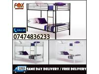 BRAND NEW SINGLE METAL BUNK BED O