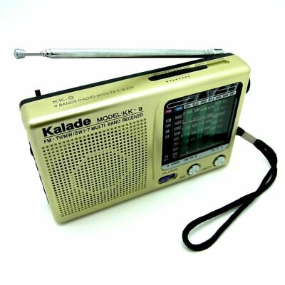 Radio 9 Band Weltempfänger Tragbares Taschenradio Mini Pocketradio KK-9 (Mini Radio)