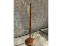 Mid Century Standard Floor Lamp Teak & Copper