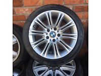 17'' BMW MV2 3 SERIES E46 ALLOY WHEELS TYRES 5X120 RIMS E90 TRAFIC VIVARO