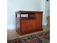 Solid Rosewood TV Cabinet with a High Lustre Finish with 3 Separate Cupboards