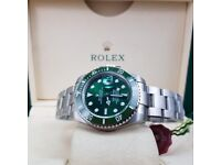 Hulk Submariner Rolex. Complete with Box & paperwork. Post or collection. £140