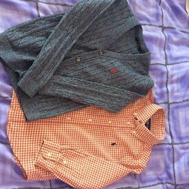 Boys Ralph Lauren original shirt and cardigan age 5