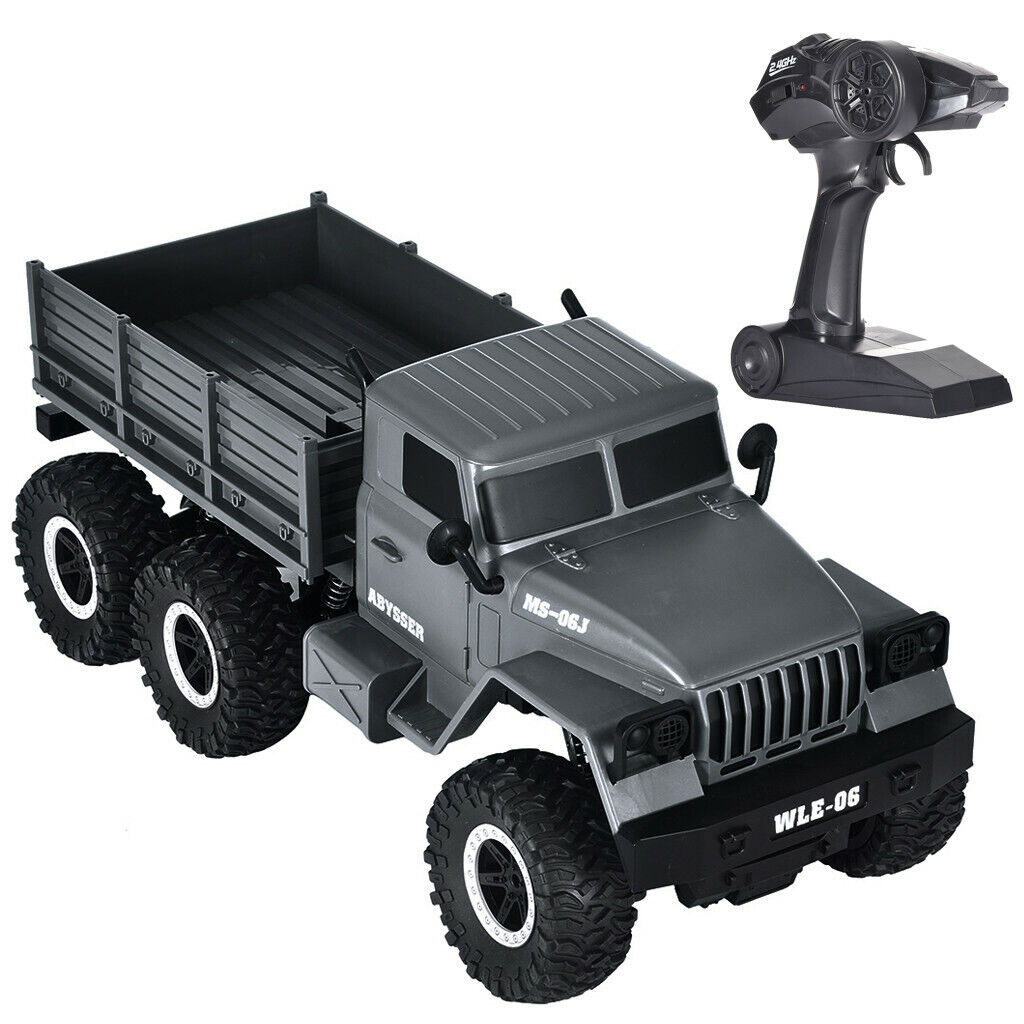 1/10 2.4G RC Open Car Military Jeep Off-road 6WD Rock Crawle