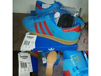 Adidas Hamburg Blue/Red Size 9.5