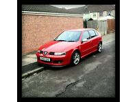FIRE RED- SEAT LEON FR TDI 150 BHP 5DR 2005 VERY ECONOMICAL