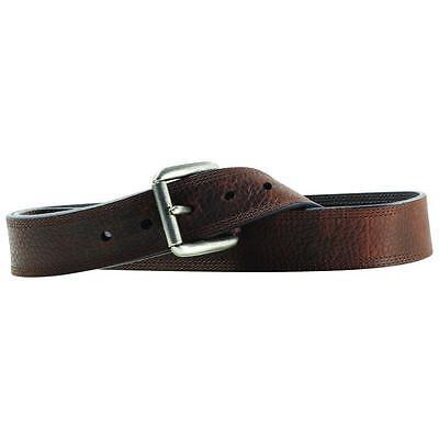 Ariat Western  Mens Belt Work Triple Stitch Oiled Rowdy Brown A10004630 Ariat Mens Work Belt