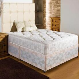 USED KINGSIZE BASE AND MATTRESS. FREE LOCAL DELIVERY