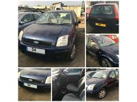 Ford Fusion Estate 1.4 5 Door Auto 2004 Blue front bumper all parts available