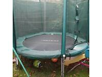 Power 8ft trampoline with safety enclosure