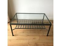 Ikea coffee table metal and glass