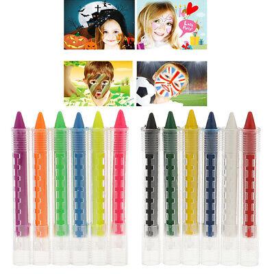 6 Colors Face Body Painting Pencil Crayon Kids Drawing Pen Halloween Makeup DIY](Diy Halloween Pencils)