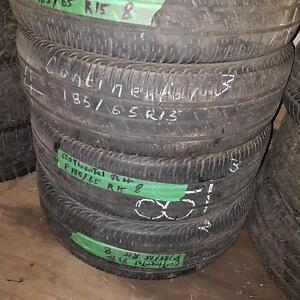 Set of four tires size 185 65 15 for sale