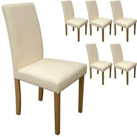 Faux Leather Dining Chairs For Home & Commercial Restaurants (BLACK,BROWN,CREAM,TEAL,GREEN,BEIGE)