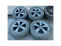 """19"""" Land range Rover alloy wheels evoque discovery sport 5x108 continental tyres"""