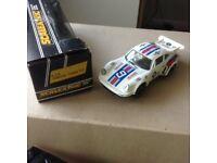 Scalextric car White Porche Turbo