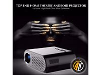 CIRRUS4K ANDROID 6.1 GLOSS BLACK/SILVER TV PROJECTOR