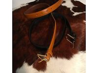 Real leather belts (Black / Brown) by American apparel