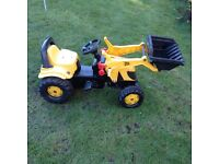 Childrens outdoor ride on JCB tractor