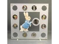 Beatrix Potter Coin Display, Perspex 13 Coin