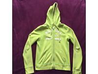 Women's Hollister green hoodie zip jumper size M