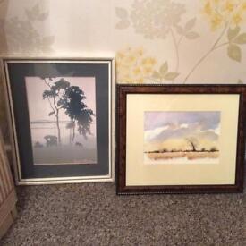 Frank Massa vintage prints/ signed and framed