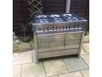 Smeg dual fuel stainless steel 6 burner range cooker (SPARES OR REPAIR)