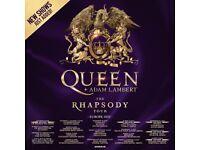 Queen standing tickets, O2 Arena London, Saturday 18 June 2022