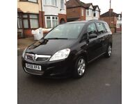 2008 Vauxhall Zafira 1.6 Exclusive 5dr estate petrol manual black 7 seater 1 owner full history£2150