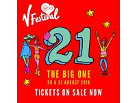 V FESTIVAL WEEKEND W/CAMPING, WESTON PARK, STAFFORD, 20 AND 21 AUGUST