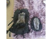 Large and smaller backpack ONLY BEEN USED ONCE!