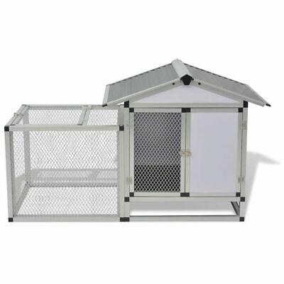 Vidaxl Hen House Chicken Coop With Run Ducks Poultry Hutch Home Eggs Nesting Box