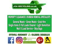 Rubbish Clearance Waste Removal Skip Hire Grab Hire Digger Tipper House Garden Clearance