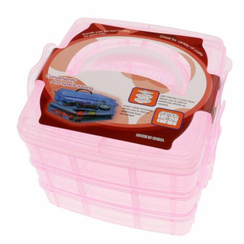 3 tier plastic craft storage organizer box