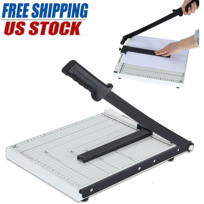 "Paper Cutter 12"" A4 To B7 Metal Base Guillotine Page Trimmer"