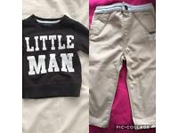Boys Top and Trousers 12-18 Months