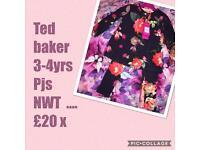 Ted baker girls pjs 3-4 years ❤️