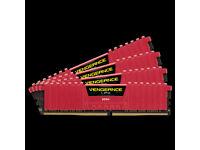 Corsair Vengeance LPX 16 GB (4 x 4 GB) DDR4 2400 Mhz C16