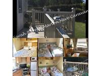 ⭐️Marton Mere Family Caravan Hire⭐️ Decking&ramp, dg&ch, Travel cot& highchair, 3 bedrooms(sleeps 6)